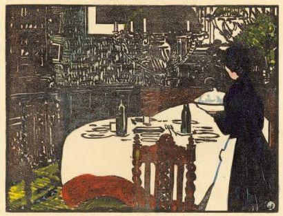 La Soupe. 1898 Bois (L. 595). Très belle...