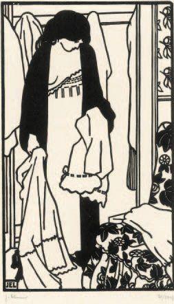 Toilettes : Le Linge. 1907 Bois (L. 635)....