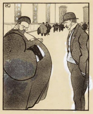 Le Bon avocat. 1904 Lavis et crachis à l'encre...
