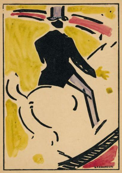 Haute école. 1913 Bois en couleurs, à une...