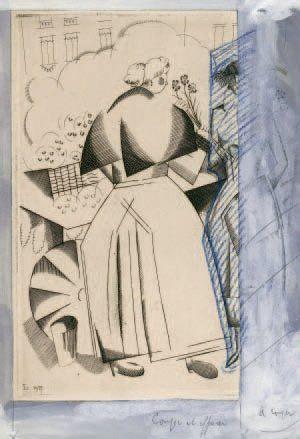 La Marchande d'oeillets. 1921 Bois (L., t....