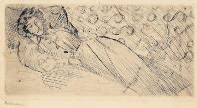 Femme couchée. 1897 Pointe sèche (L. 10)....