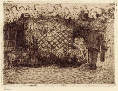 L'Arrosoir. 1902 Eau-forte (L. 31). Épreuve...