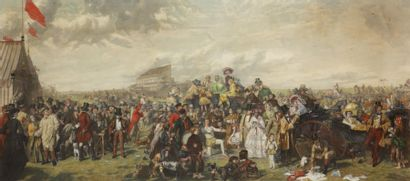 «THE DERBY DAY» Londres 2 mars 1863. Gravure...