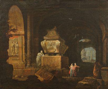 École romaine vers 1720