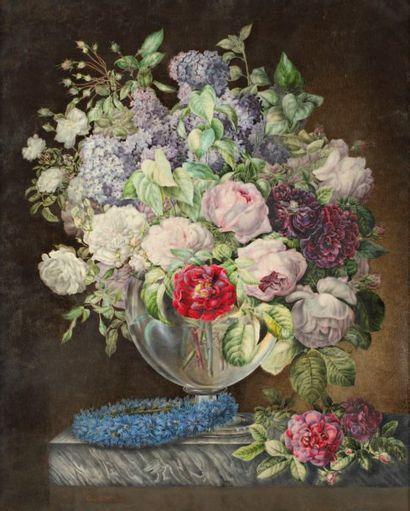 Louise GUILLEMAIN (école française vers 1820, école de Redouté)
