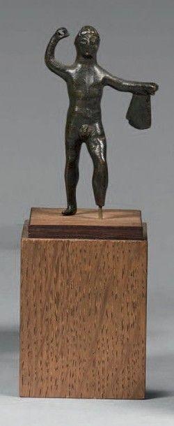 PETITE STATUETTE «Lutteur» Bronze patine...