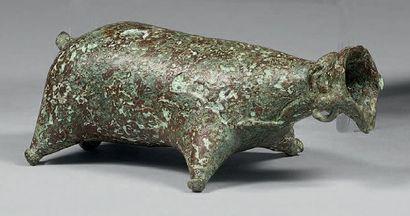 * BALSAMAIRE en forme d'outre de porc Bronze...