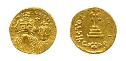 CONSTANT II et CONSTANTIN IV (654-659) Solidus...