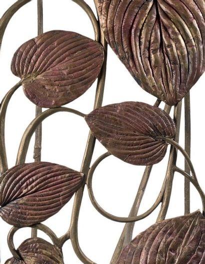 CLAUDE LALANNE (NÉE EN 1924) Sculpture banquette à corps quadrangulaire en cuivre...