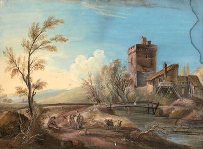 Attribué à Jean Baptiste LALLEMAND (1710 ou 1716-1803 ou 1805)