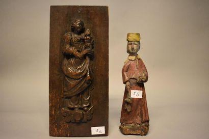 Deux sujets religieux : Statuette religieuse...