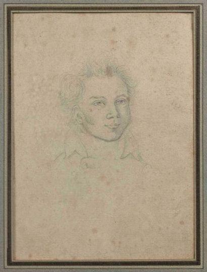 Ecole française vers 1800 : Portrait d'homme...