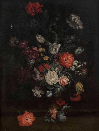 Ecole française du XVIIIe siècle : Vase de...