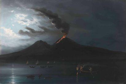 Augusto CORELLI (1853-1918) : La Grotte Bleue...