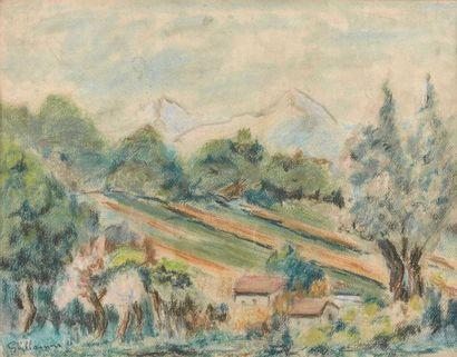 Armand GUILLAUMIN (1841-1927) : Le Mas dans...