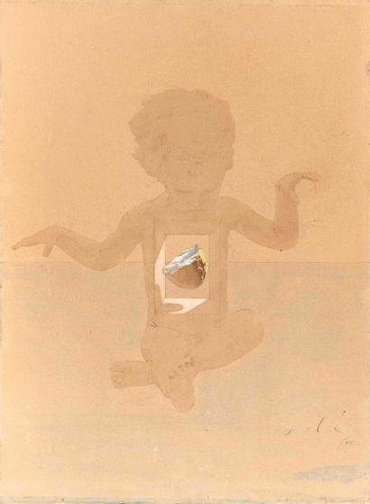 Salvador DALI (1904-1989) : Etude de l'enfant...