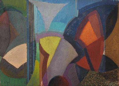 Alfred RETH (1884-1966) : Composition colorée....