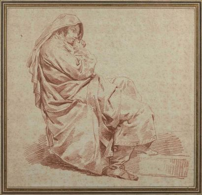 École française du XVIIIe siècle : Homme...