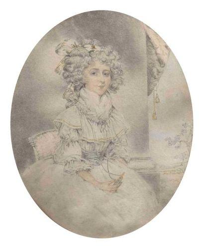 Attribué à John DOWNMAN (1750-1824) : Portrait...
