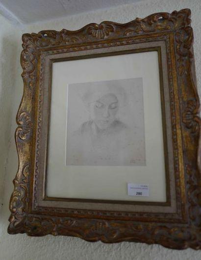 Attribué à georges Guiraud (1900-1989)  Etude...