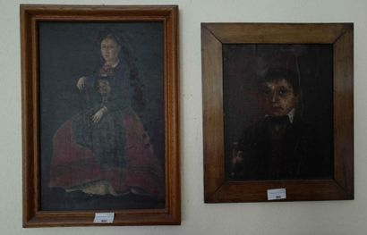 Ecole alsacienne :  Portrait de jeune femme...