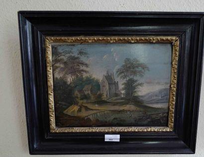 Ecole Nordique XVIIIe siècle :  Paysage au...