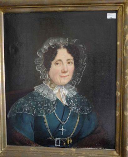 Ecole française du XIXe siècle : portrait...