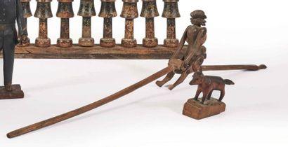 Jouet bâton figurant un acrobate articulé...