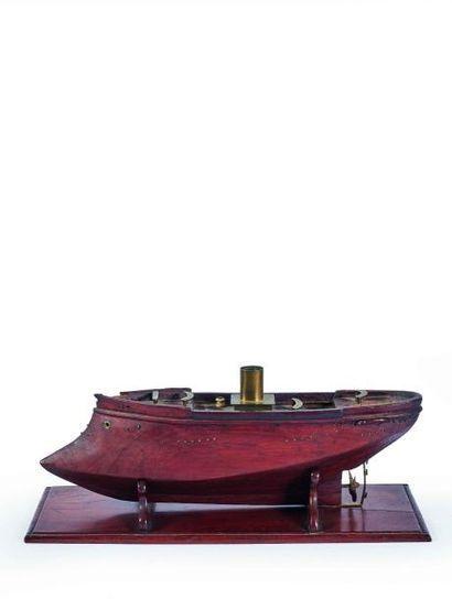 Maquette de cuirassé à vapeur équipé d'un...