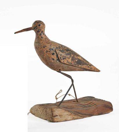 Appelant figurant un oiseau limicole en bois...