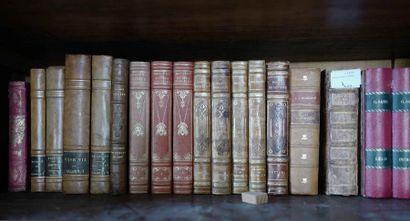 Lot de livres en demi-reliure, dont