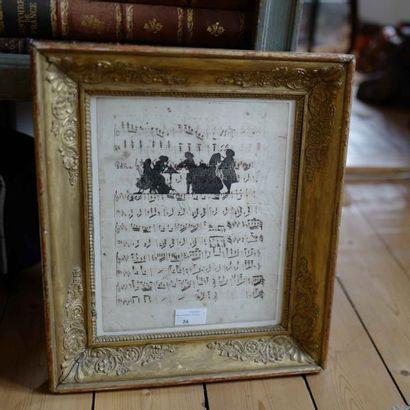 Partition manuscrite Polka, avec dessins...