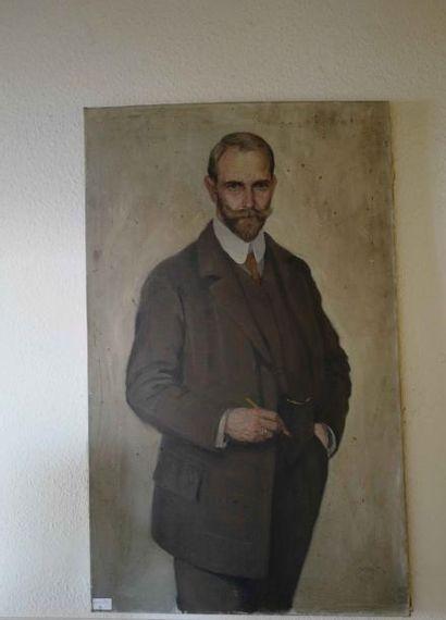 Ecole française, vers 1900  Portrait d'homme...
