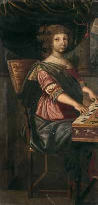 Ecole flamande du XVIIe siècle : Joueuse...