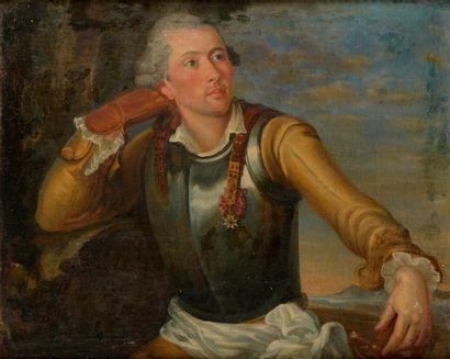 Ecole française du XVIIIe siècle  Portrait...
