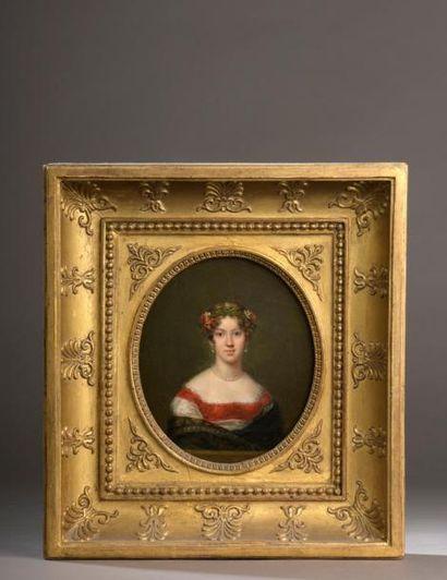 Ecole française du début du XIXe siècle  Portrait...
