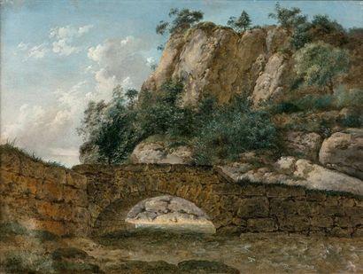 Georges Augustus WALLIS (1761-1847)  Le pont...