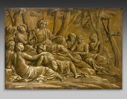 Ecole flamande vers 1780  Apollon et les...