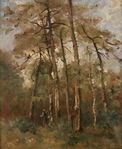 Paul Désiré TROUILLEBERT (1829-1900)  Pins...
