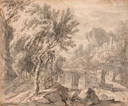 Attribué à Jan Van HUYSUM (Amsterdam, 1682-1749)...