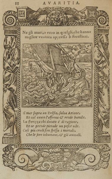 ALCIAT. Diverse emprese. Lyon, 1576. In-12,...