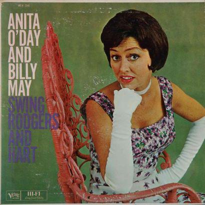 O'DAY Anita. Lot de 17 vinyles dont le Verve...