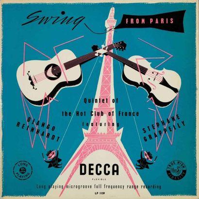 REINHARDT Django. Lot de 8 vinyles dont le...