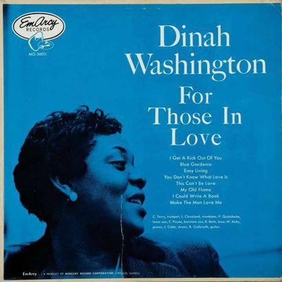 WASHINGTON Dinah. Lot de 24 vinyles dont...