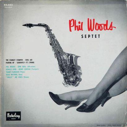 WOODS Phil. Lot de 9 vinyles dont le Pathé-Marconi...