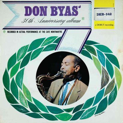BYAS Don. Lot de 9 vinyles dont E.O. Debut 142. E.O. et rééditions. 33T 30 CM. P...
