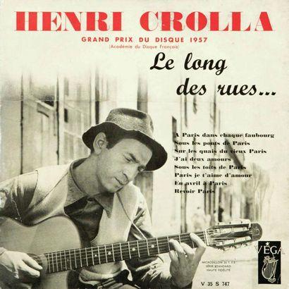 CROLLA Henri. Lot de 4 vinyl : Le long des...
