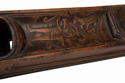 Riflard Fût en buis, évidé pour éviter qu'il ne se déforme lors du séchage du bois....