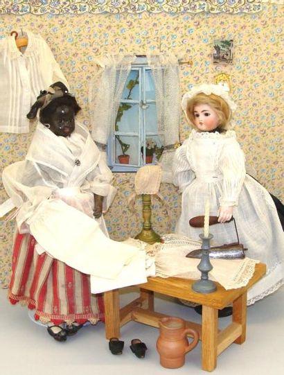 La blanchisserie : personnages et accessoires....